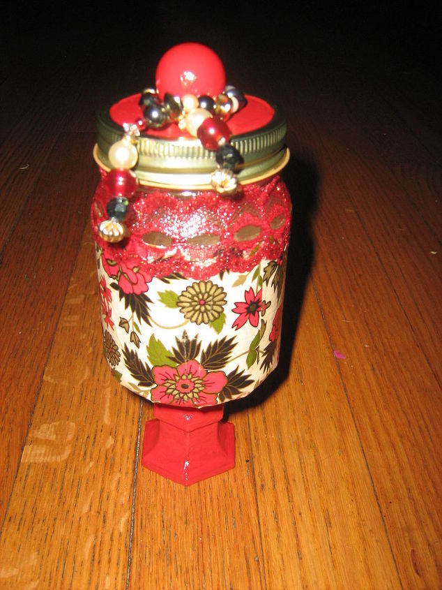 hand made candy gift jars for christmas presents, crafts, the first jar