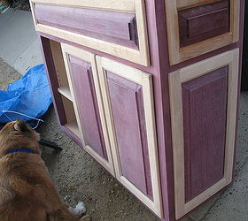 Purple Heart And Birch Cabinet, Painted Furniture, Woodworking Projects,  The Inspector Checking Things