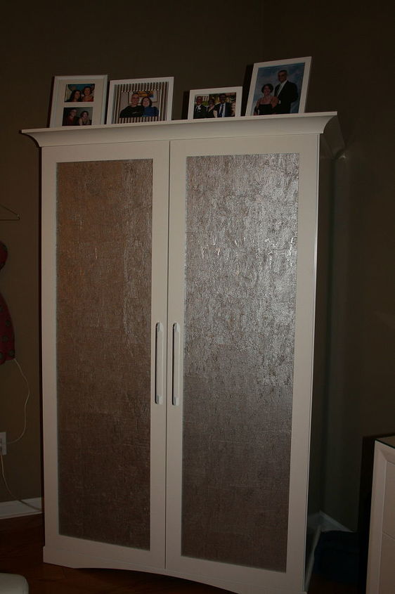 New Armoire - creative use with Seabrook Expressions wall paper :-)