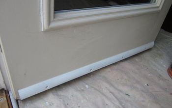 Prevent door bottoms from rotting or rusting by installing a drip edge.