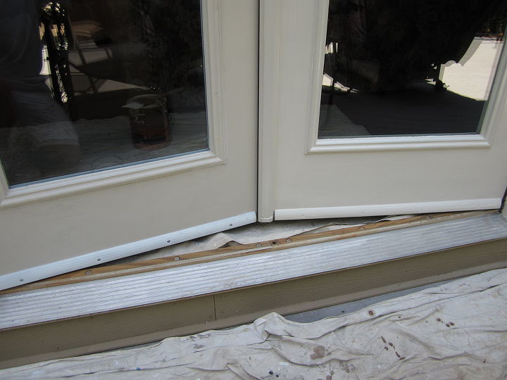 After painting, the drip edge looks like part of the door.