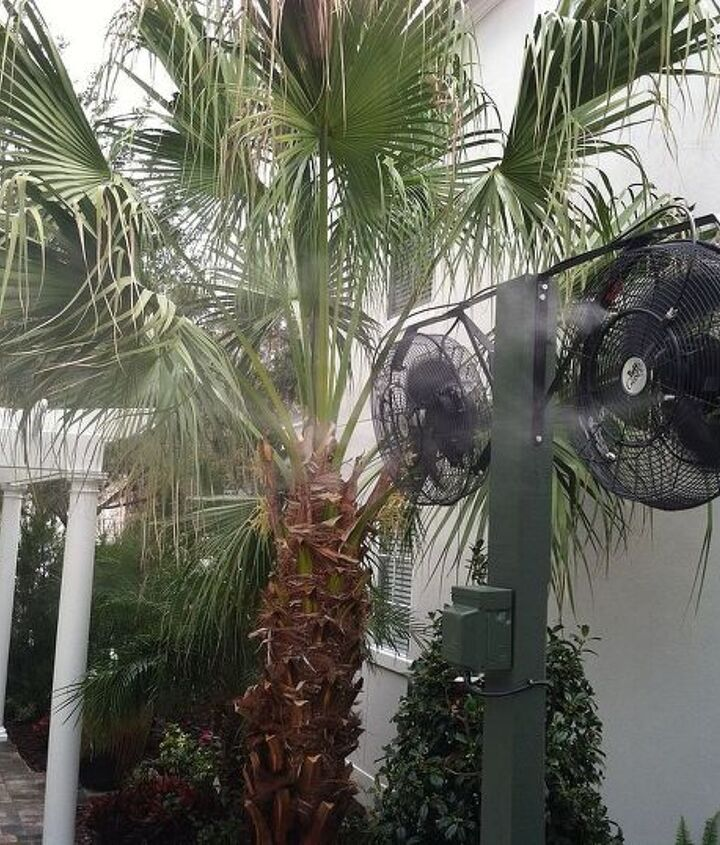 Misting fans are a misting