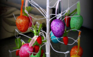 easter tree, crafts, easter decorations, seasonal holiday decor