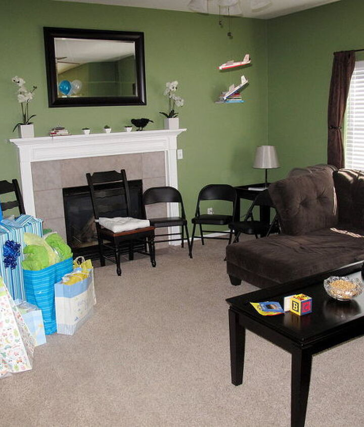 The living room. We no longer have brown curtains or a brown couch. We have gray couches and no curtains...yet...