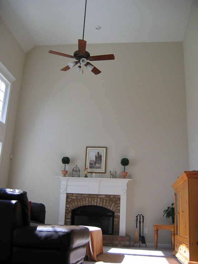 built in bookshelves in living room, home decor, shelving ideas, storage ideas, Before project began