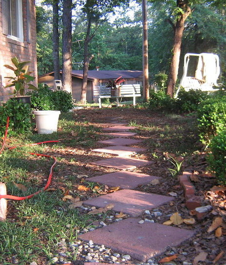 This is the other path you can't see for the boxwood going in front of double windows
