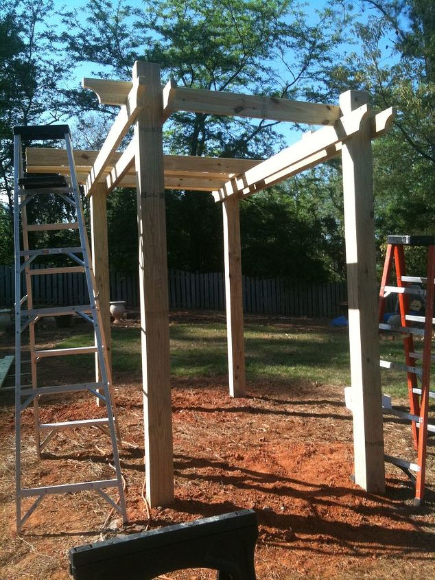 swing gazebo, outdoor living, woodworking projects