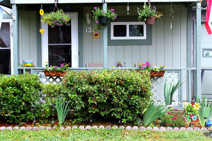 as requested hedges have been cut, curb appeal, flowers, outdoor living, porches
