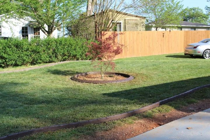 landscape curbing job we completed sunday in dahlonega ga the pattern is running, gardening, landscape