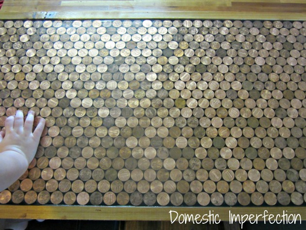 penny countertop, countertops, home decor