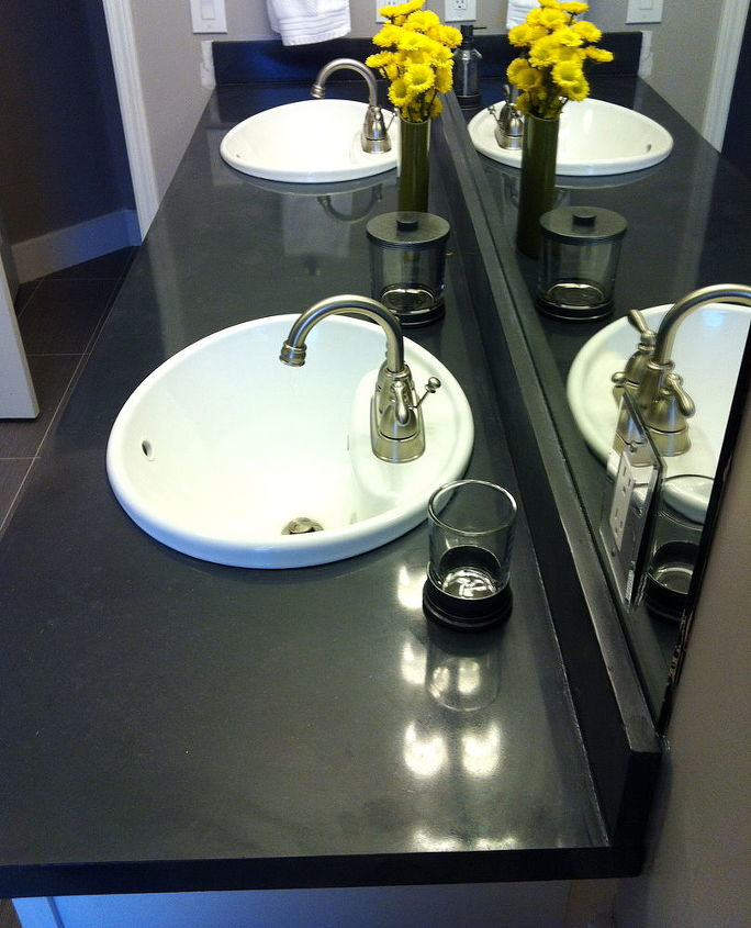 concrete bath vanity, bathroom ideas, concrete masonry, home decor
