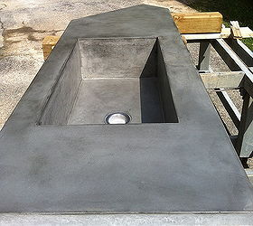 Concrete Countertop With Large Integral Farmhouse Sink, Concrete Masonry, Concrete  Countertops, Countertops