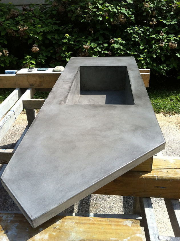 concrete countertop with integral sink, concrete masonry, concrete countertops, countertops