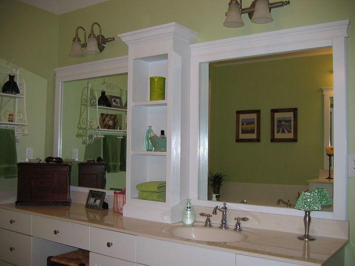 Revamp that large bathroom mirror | Hometalk on things in the mirror, diy duct tape ideas wall mirror, removing vanity mirror,