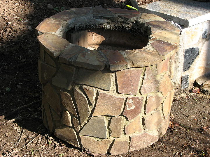 then try different styles of rock and they started to stack up made them in pairs and sold them out of front yard.pretty soon taking orders.great planters.