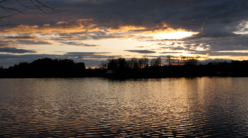 Gorgeous sunset on Horseshoe Pond.  Can almost hear the loons.
