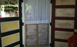 patio divider made from recycled doors, repurposing upcycling, patio divider