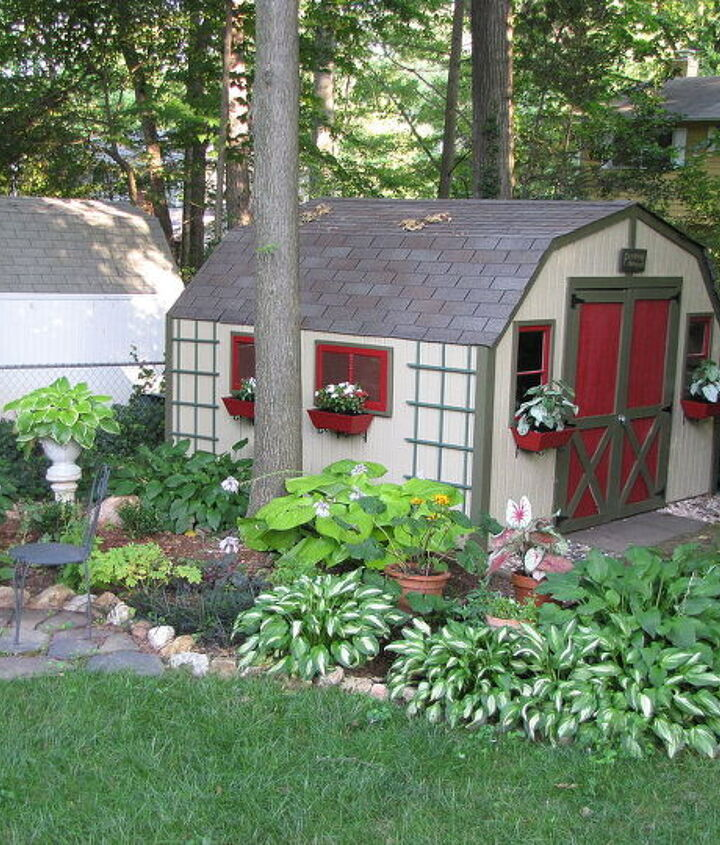 I decided I wanted something better.  Here is the result.  We added old windows to the front and window boxes.
