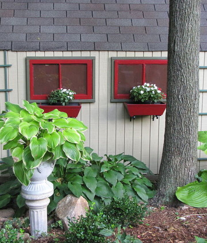 In order to save shelf space inside, we added faux windows on the side. They add interest without sacrificing any space.