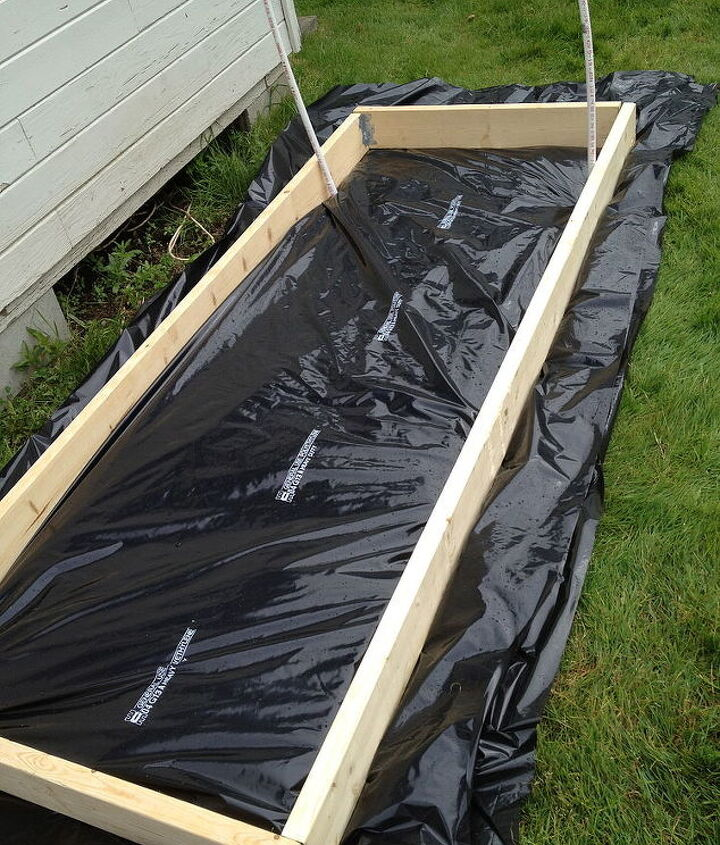 diy greenhouse for approx 50, gardening, Simple base frame with wood boards and corners braces