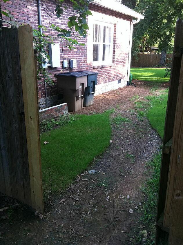 BEFORE: Side Yard