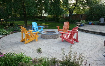 eye catching patio furniture, outdoor furniture, outdoor living, patio, Techo Bloc Patio using Blu 60 and Parisien pavers