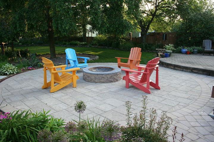 eye catching patio furniture, outdoor furniture, outdoor living, patio, Techo Bloc Patio using Blu 60 and Parisien pavers