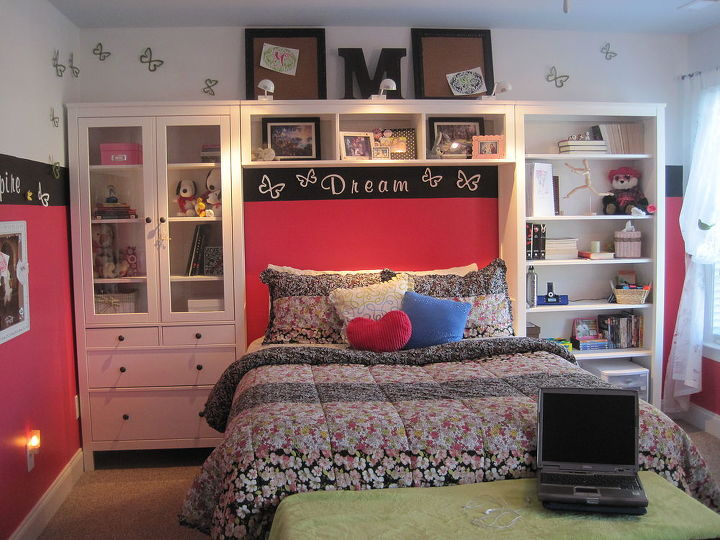 one of my latest projects teen girl s room gets a new look, bedroom ideas, home decor