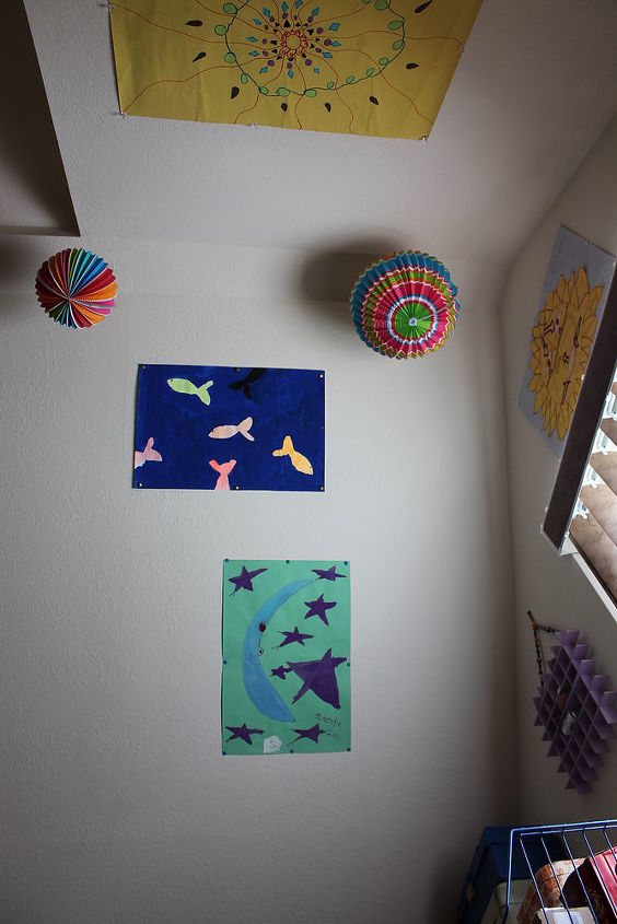 artwork from my 10 year old godchild displayed on my walls, home decor