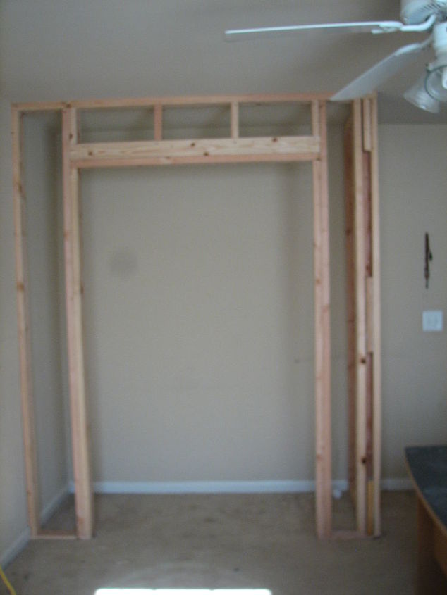 Framing of the above closet