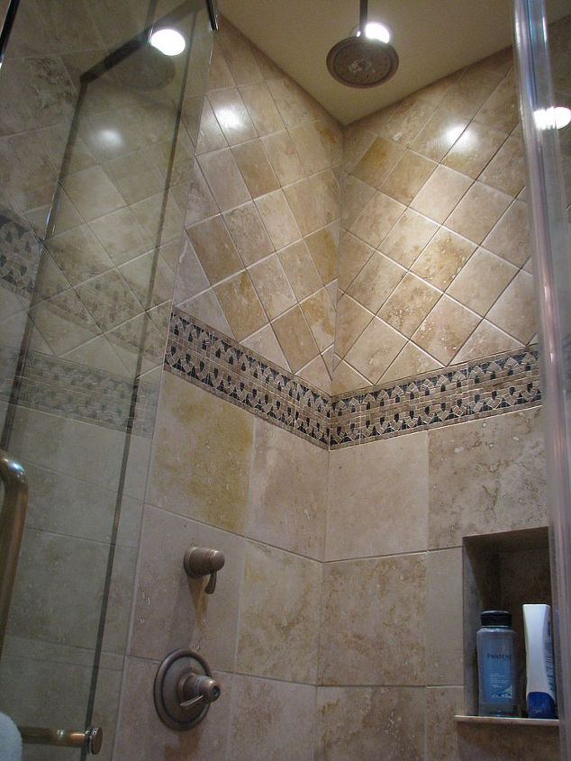 This shower is as open as the previous shower was closed. Check our the following before photos.