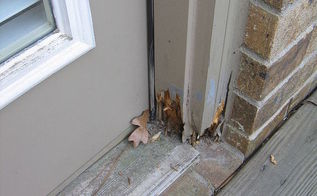 repairing rotted door jambs, doors, woodworking projects, My customer had 6 door jambs that had rot in about the same place and size These were large double door units and I did not want to remove the unit and replace the complete jamb