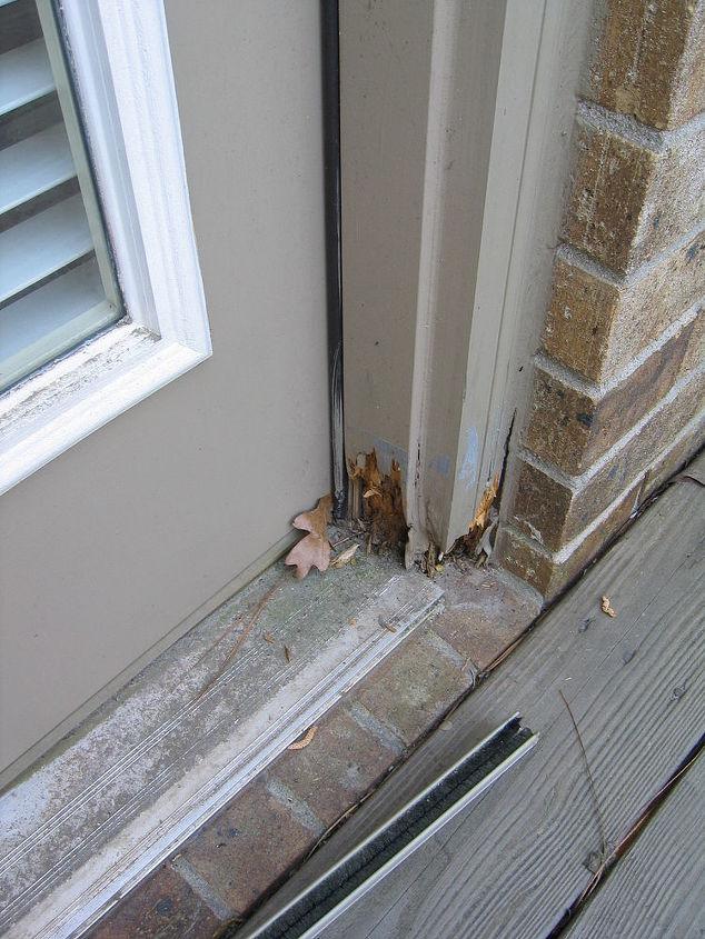 Repairing rotted door jambs hometalk for What is the trim around a door called