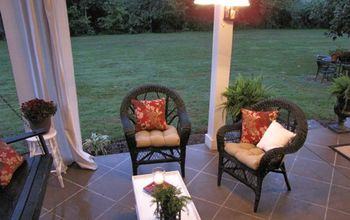 Staining your concrete patio to look like tile.