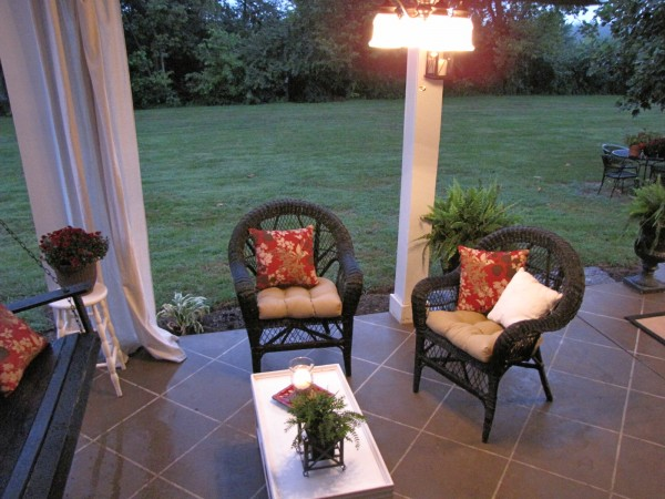 Staining Your Concrete Patio To Look Like Tile Hometalk - Can you tile a concrete patio