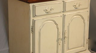 miami inspired, painted furniture