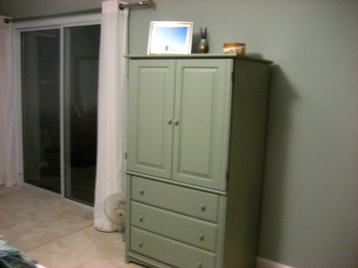 just painted tv armoire