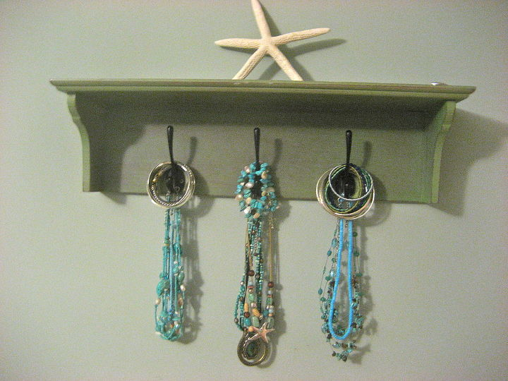 jewelry hooks over jewelry armoire