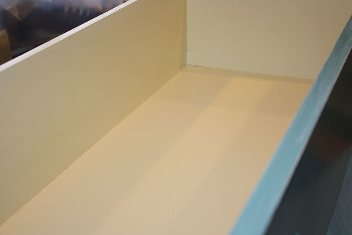 q here s a drop top desk is that what it s called i finished today, home decor, painted furniture, inside the drawer
