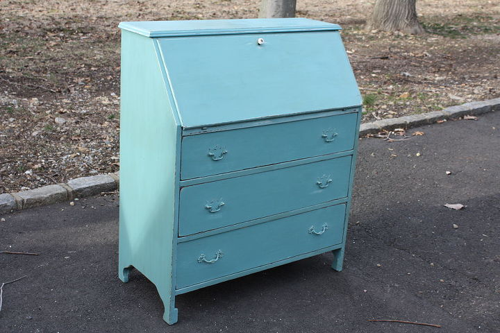 q here s a drop top desk is that what it s called i finished today, home decor, painted furniture, AS Provence lightly distressed