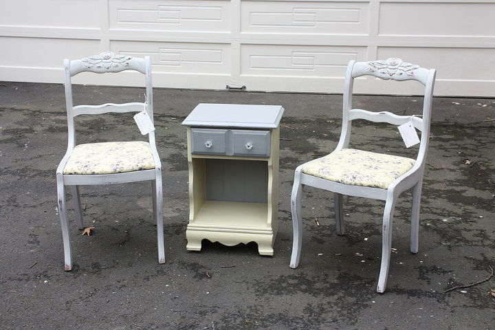q i used one sample size of paint to do two chairs we are having another fun giveaway, painted furniture