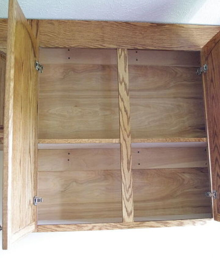 Inside of cabinets