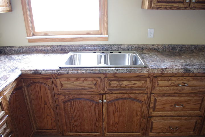 Sink and lower cabinets