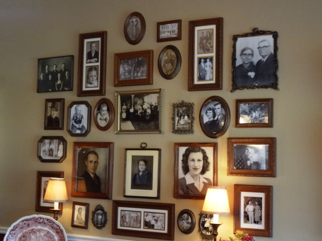 My great grandmother is the very proper looking lady on the second row from the bottom, center picture. She loved to decorate & entertain.  When I'm setting my dining room table, I sometimes look at her, wondering if she would approve!