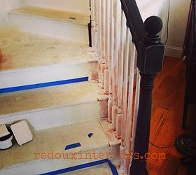 How To Paint A Staircase Black And White With All The Details, Diy, Painting