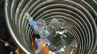 , Me Inside the 14 000 liter reactor