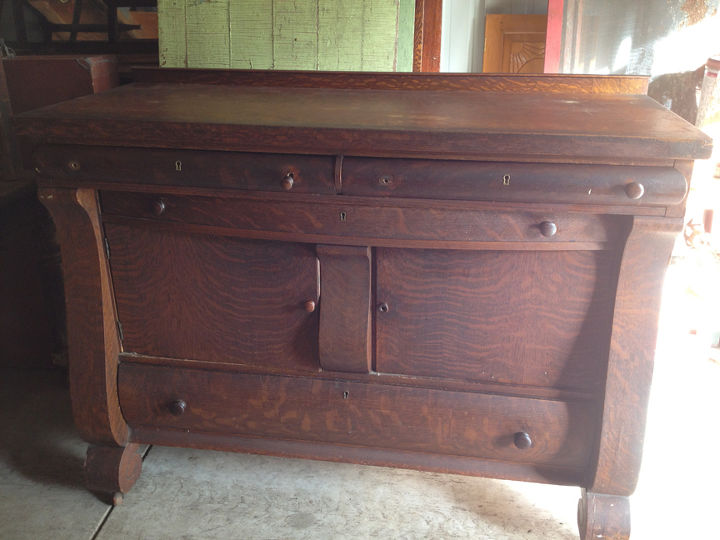 antique buffet didn t have a leg to stand on, painted furniture, repurposing upcycling