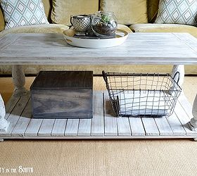 Amazing Restoration Hardware Knock Off Salvaged Wood Balustrade Coffee Table, Diy,  How To, Painted
