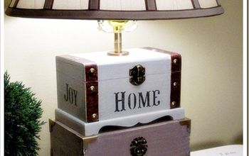 Dollar Store Craft Box Lamp