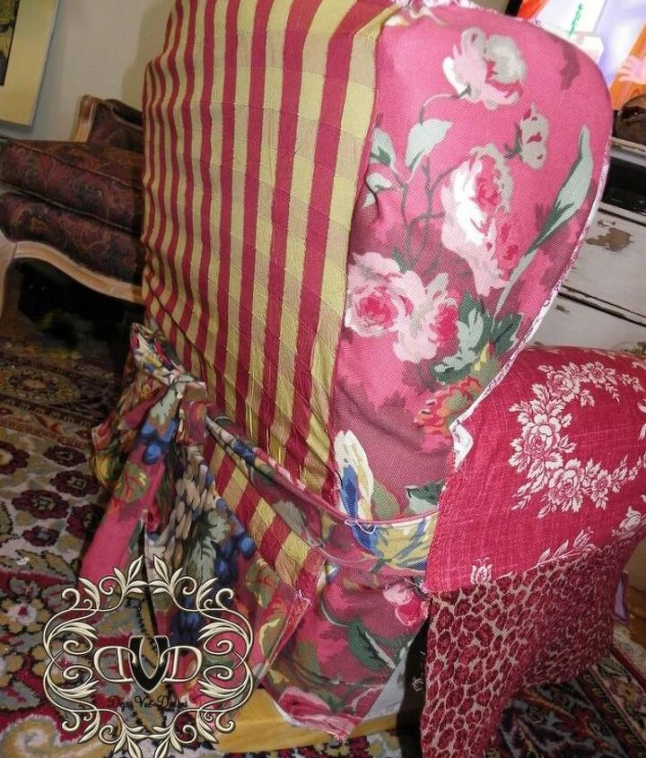 a child s rocker gets a facelift, painted furniture, reupholster